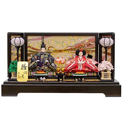 雛人形 親王飾り 平飾り 塗桐 幅65cm [fz-59] ひな人形   B07K75X47S