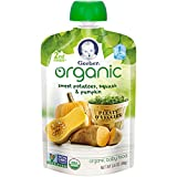 Gerber Organic 2nd Foods Baby Food Sweet Potato Squash and Pumpkin, 3.5 Ounce Pouch (Pack of 12)
