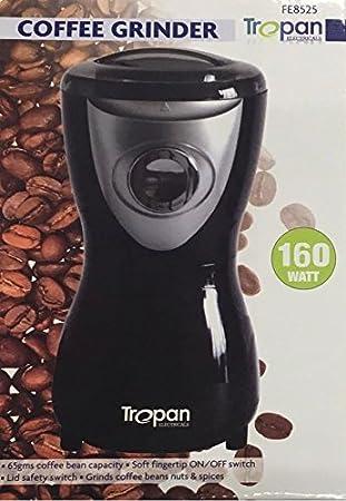 tropan negro eléctrico batidora de conjunto de la tuerca de granos de café molinillo de especias hoja Espresso 160 W # tropan: Amazon.es: Hogar