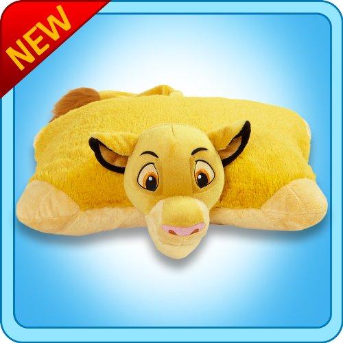Pillow Pets Authentic Disney 18'' Simba, Folding Plush Pillow- Large