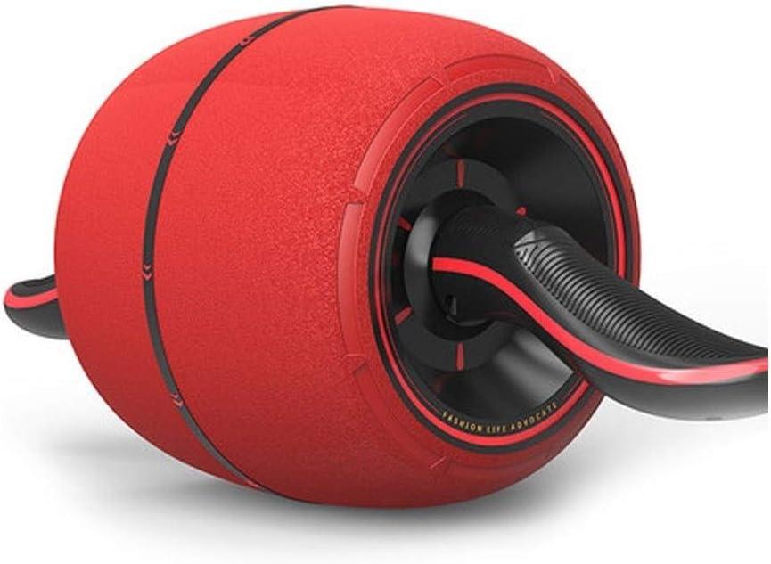 腹筋器具 腹部ホイールエクササイズフィットネス機器耐摩耗性ミュートコアトレーニング男性と女性の練習腹筋ローラーレッド (Color : 赤, Size : 43*19cm) 赤 43*19cm