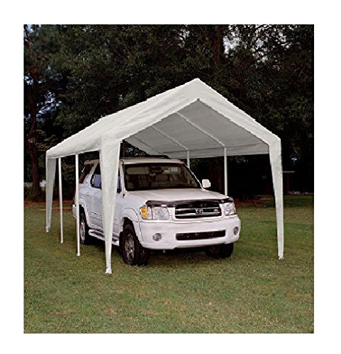 King Canopy Titan 10 x 20 ft. Canopy Replacement Cover Only - White - PTCL1020FR6 (King Canopy Carport compare prices)