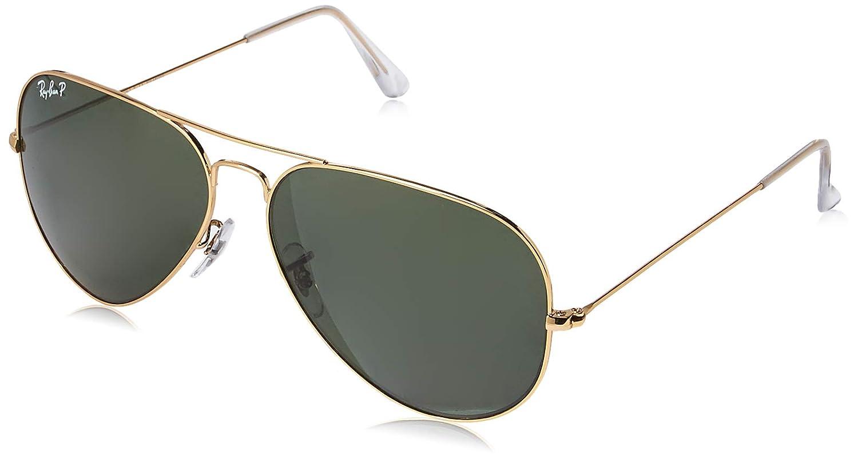 9df04abb521 Amazon.com  Ray-Ban Men s RB3025 Aviator Metal Aviator Sunglasses  Clothing
