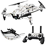 MightySkins Skin for DJI Max Coverage – Conceal Snow | Protective, Durable, and Unique Vinyl Decal wrap Cover | Easy to Apply, Remove, and Change Styles | Made in The USA