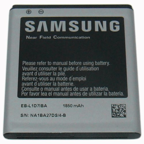 Samsung 1850mA Li-Ion Standard Battery for T-Mobile Samsung Galaxy S II Hercules T989 - Non-Retail Packaging - Silver