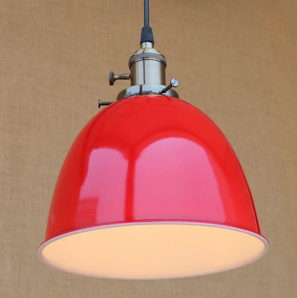 AIKE Vintage Pendelleuchten Loft Lampe Metall Leuchte E27 Fassung Industrie Esstischleuchte Hängelampe Deckenlampe für Esszimmer Kitchen Bar Cafe Arbeitszimmer Gasthaus Höhenverstellbar Max. 60W (Rot)