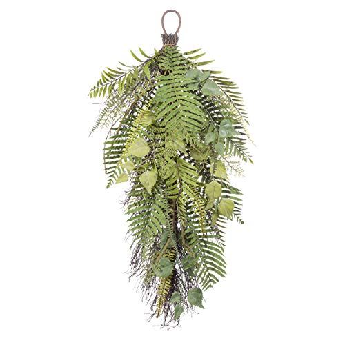 Darice Plastic Mixed Fern Leaves Teardrop: Green, 30 inches ()