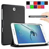 Galaxy Tab S2 8.0 case - Infiland Samsung Galaxy Tab S2 8.0 Case, Ultra Slim Tri-Fold Smart Case Cover for Samsung Galaxy Tab S2 8-Inch Tablet Only (Tab S2 8.0 , Black )