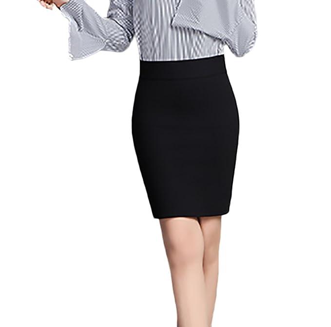 Mujer Faldas Cortas Lápiz Elásticos Talle Alto Color Sólido Moda Elegantes  Sencillos Diario Negocios Fiesta Falda Tubo  Amazon.es  Ropa y accesorios eadab51baf67