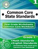 First Grade Common Core Workbook: Worksheets, CoreCommonStandards.com, 1499115628