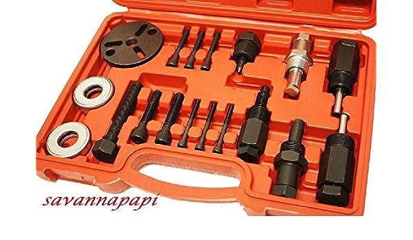 18pc a/c compresor embrague extractor platos herramientas: Amazon.es: Coche y moto
