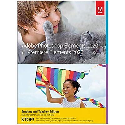 Photoshop Elements 2020 & Premiere Elements 2020  Estudiante y profesor   PC   Código de activación PC enviado por email