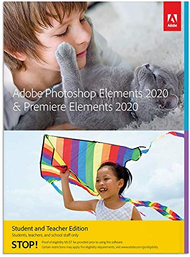 Adobe Photoshop Elements 2020 & Premiere Elements 2020 Student and Teacher [PC/Mac Disc] (Adobe Cs6 Design Standard Student And Teacher Edition)