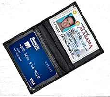 ASHLIN Double Credit Card ID Case - 100% Tuscany Cowhide | Midnight Black | Mini-Wallet [7503-07-01]