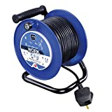 Masterplug LDCC2513/4BL 13amp 4 Socket 25m Open Cable Reel - Blue