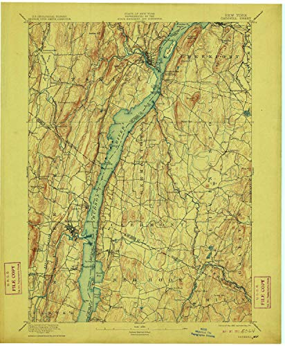 YellowMaps Catskill NY topo map, 1:62500 Scale, 15 X 15 Minute, Historical, 1895, Updated 1911, 20.1 x 16.6 in - ()