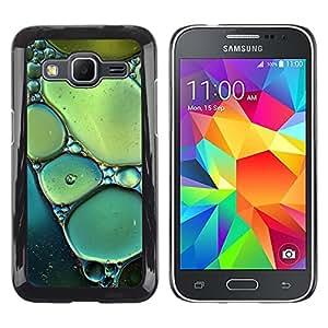 LECELL--Funda protectora / Cubierta / Piel For Samsung Galaxy Core Prime SM-G360 -- Sun Spring Nature Bubbles Teal Green --