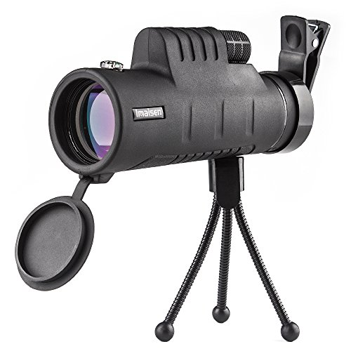 Wayoo Monocular Telescope High Power 40x60 Monoculars Scope with Phone Clip and Tripod Dual Focus Optical BAK4 Prism Telescope for Hiking Wildlife Live Concert by Wayoo