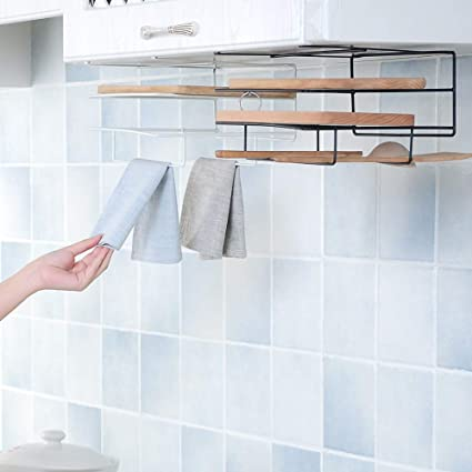 Kitchen Multifunction Wall Holder Hanger Bathroom Towel Cooking Rack Tool Jian