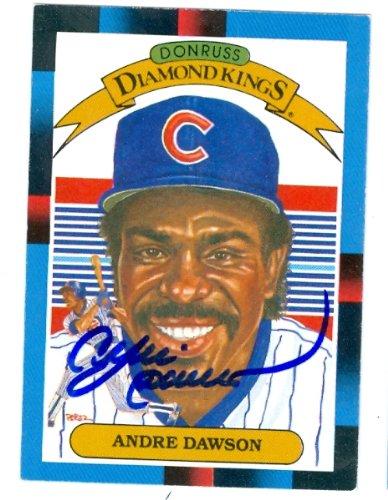 Autograph Warehouse 62374 Andre Dawson Autographed Baseball Card Chicago Cubs 1988 Donruss Diamond Kings No. 9 ()
