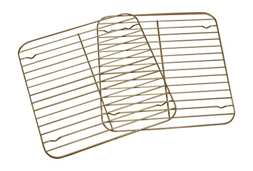 nickannys square non stick wire cooling racks for baking 10x10 chrome new ebay. Black Bedroom Furniture Sets. Home Design Ideas
