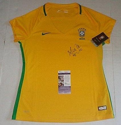 Marta Vieira da Silva signed Nike Brasil Soccer Jersey Brazil Orlando Pride - JSA Certified -