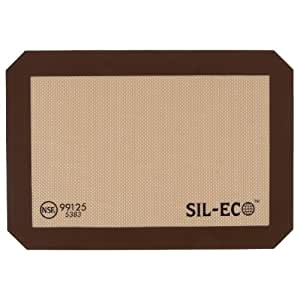 "Sil-Eco E-99125 Non-Stick Silicone Baking Liner, Quarter Sheet Size, 8-1/4"" x 11-3/4"""