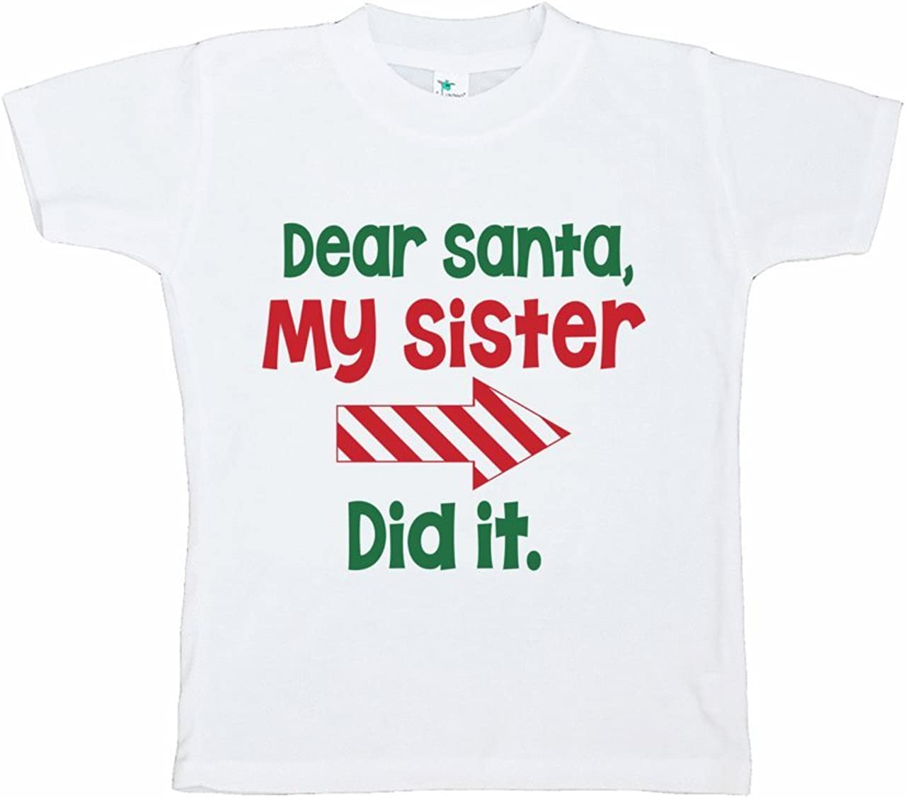 7 ate 9 Apparel Funny Kids Santa Christmas T-Shirt