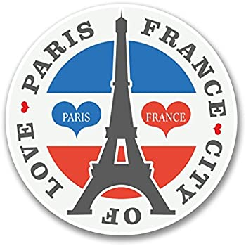 2 x Paris Eiffel Tower Vinyl Sticker Laptop Travel Luggage #4225