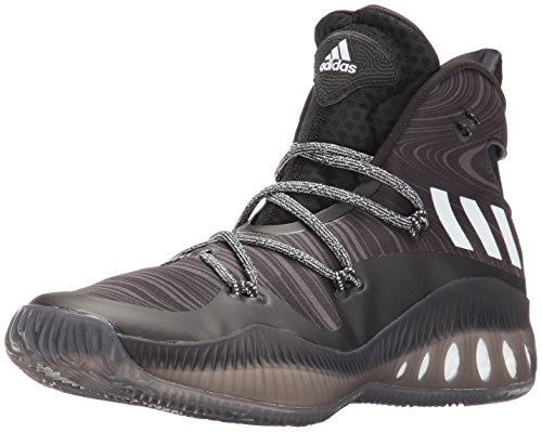 adidas Performance Men's Shoes | Crazy Explosive Basketball, Black/Black 1/White, (8.5 M US)