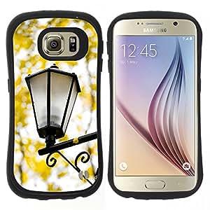 """Pulsar iFace Series Tpu silicona Carcasa Funda Case para Samsung Galaxy S6 , Caída de la lámpara de la calle Amarillo Romántico"""""""