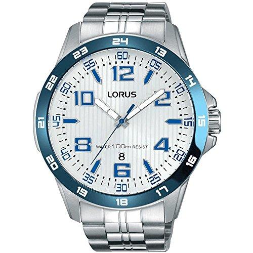 Lorus Men's 45mm Steel Bracelet & Case Quartz Silver-Tone Dial Analog Watch RH903GX9