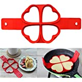 Nonstick Pancake Silicone Mold Maker Heart Shape Fried Egg Ring Mold Shaper Flipping Pancake Silicon Mold Omelette Mould