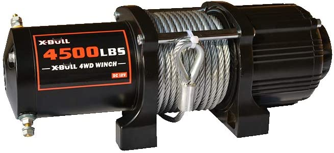 2041KG Load Capacity Steel Wire Rope 12V ATV Electric Winch 2 Wireless Remote Type S X-BULL 4500LBS