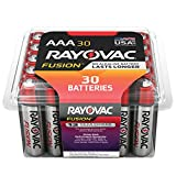 RAYOVAC AAA 30-Pack FUSION Advanced Alkaline Batteries, 824-30PPFUSJ