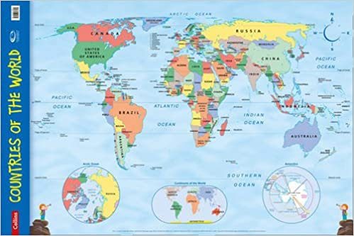 Countries of the World Wall Map (Collins Primary Atlases): Collins ...