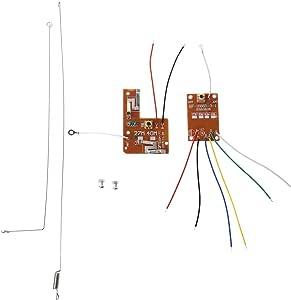 siwetg 4CH RC Control remoto 27MHz Circuito PCB Transmisor y Receptor Placa con Antena Sistema de Radio para Coche Camión Juguete