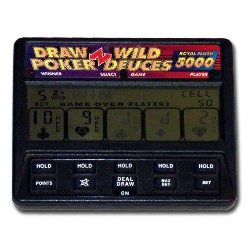Radica Ltd, H.K. Model:1414 Radica Draw Poker Wild Deuces Royal Flush 5000 LCD Hand-held #1414 by Radica LTD. H.K.