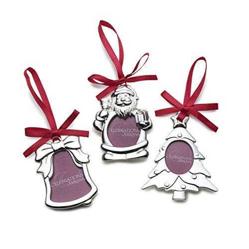 Mikasa Christmas Tree (Mikasa Silver-Plate Frame Christmas Ornaments (Set of 3))