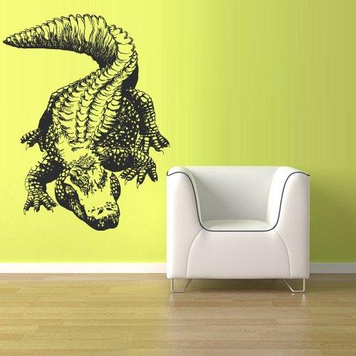 Wall Vinyl Sticker Decals Decor Australia Alligator Crocodile Croc Thailand Skin (Z1518) ()