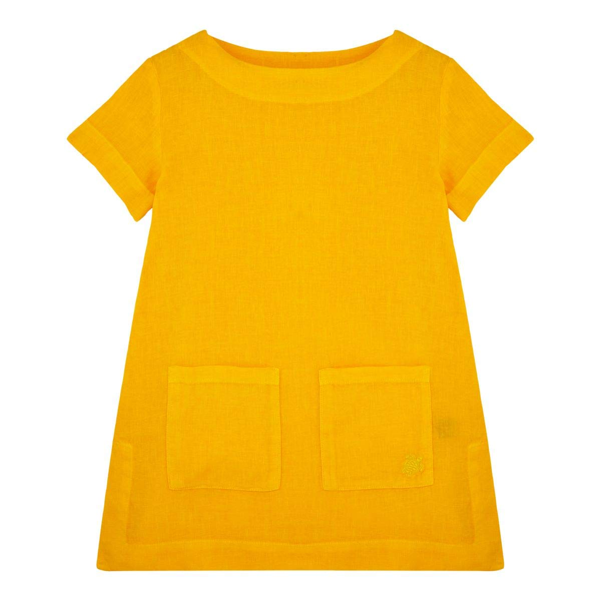 Mango  Vilebrequin - Robe Fille en Lin Unie