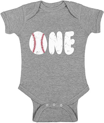 Awkward Styles Baby Baseball Birthday Boy Girl Short Sleeve Bodysuits Tops First...