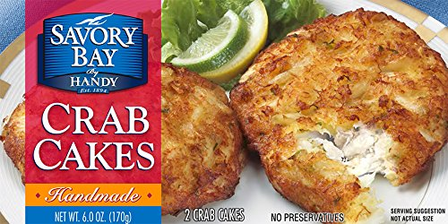 (Handy Seafood 3 Oz Savory Bay Crab Cakes (4 pack - 8 cakes total).)