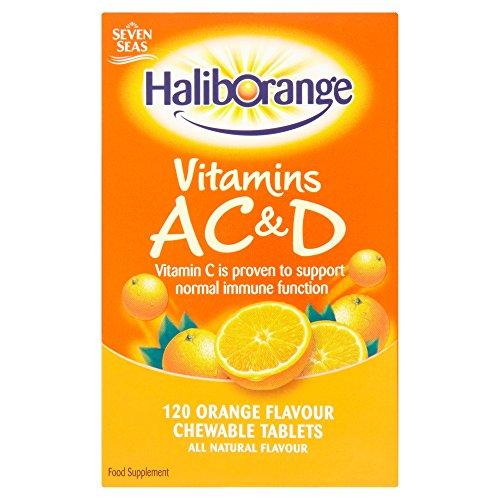 Haliborange Tablets AC & D Orange 120 Chewable Tablets (Vitamin Haliborange)