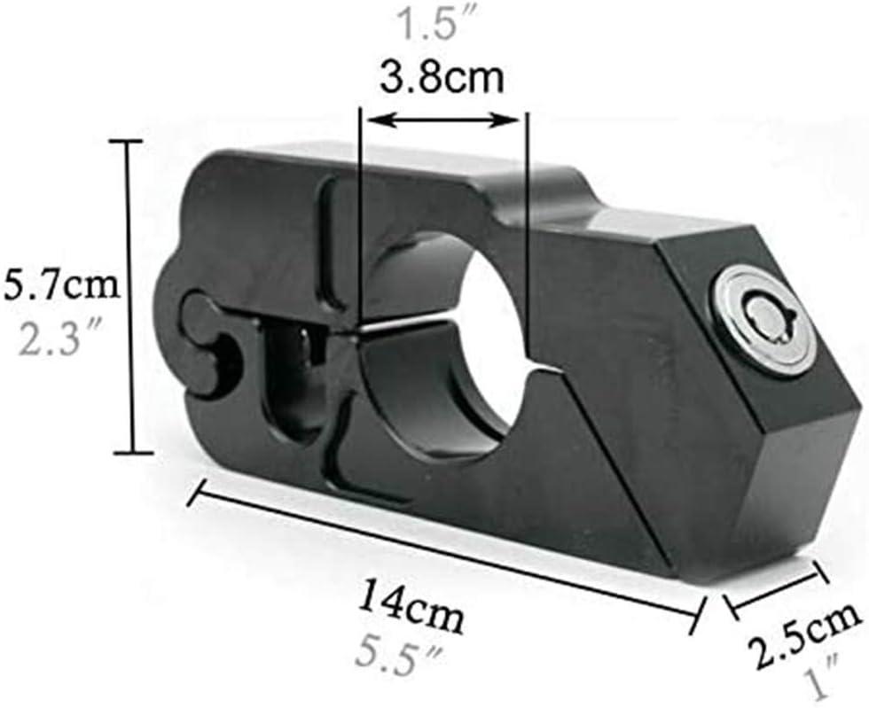 WXQY Bremshebel Lock Caps Lock Bremshebel-Sperre f/ür Motorr/äder Lenker Sicherheitsschloss Universal Motorrad Lenker Bremshebel Schloss Fahrzeugsicherheit
