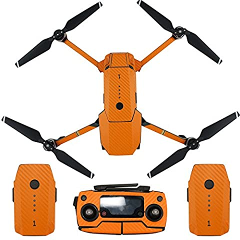 Skin for DJI Mavic Pro Waterproof Carbon Fiber Decorative Sticker Decal Skin Wrap Cover Kit Drone Body, Remote Controller, Battery and Arms by Shiloh-E Tech - Tech Station Kit