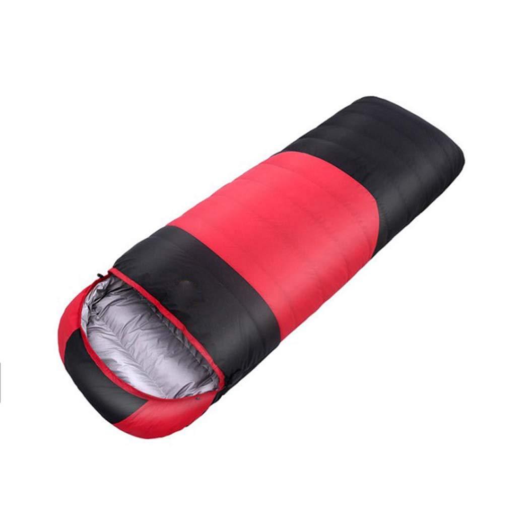 MISS&YG Sac de Couchage Adulte Quatre Saisons Camping-Chaud léger Coutures enveloppe de Couchage Sac de Compression Sac adapté pour la randonnée