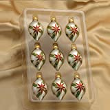 Kurt Adler Ornaments GG0322-C Glass Multi-Color Miniature Drop Ornamentss
