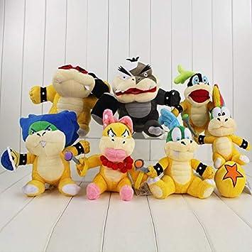 "Koopalings Super Mario Bros 7/"" Koopa Plush Toy Stuffed Doll Kids Gift USA Seller"