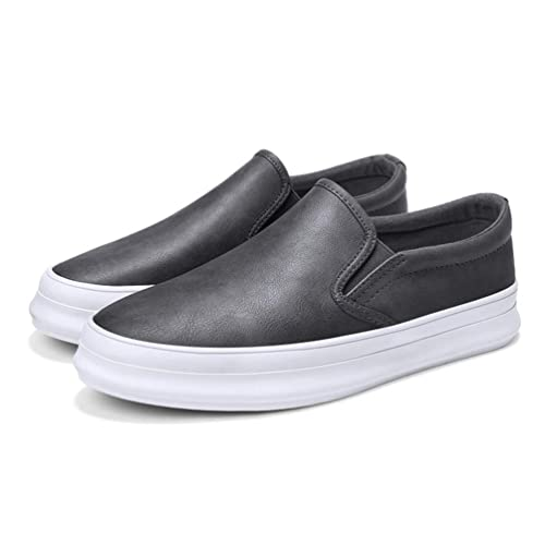 cdfc8b87de45 Chaussure Basse de Marche de la Ville au Loisir pour Homme Plate Lok Fu  Chaussure de Travail a Enfiler en Cuir Souple Antidérapant  Amazon.fr   Chaussures et ...